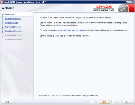 Oracle HTTP Server Install