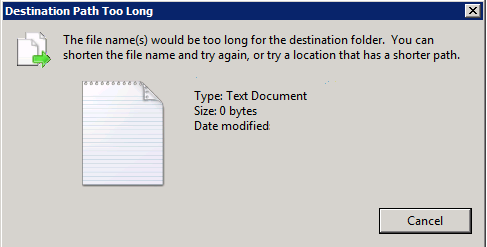 cannot delete files - file name is too long