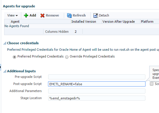emctl file in the oraclehome cannot be renamed from emctl.bat to emctl_upgrade.bat