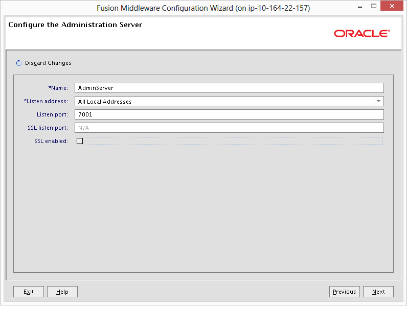 Weblogic Configuration Wizard Create Domain